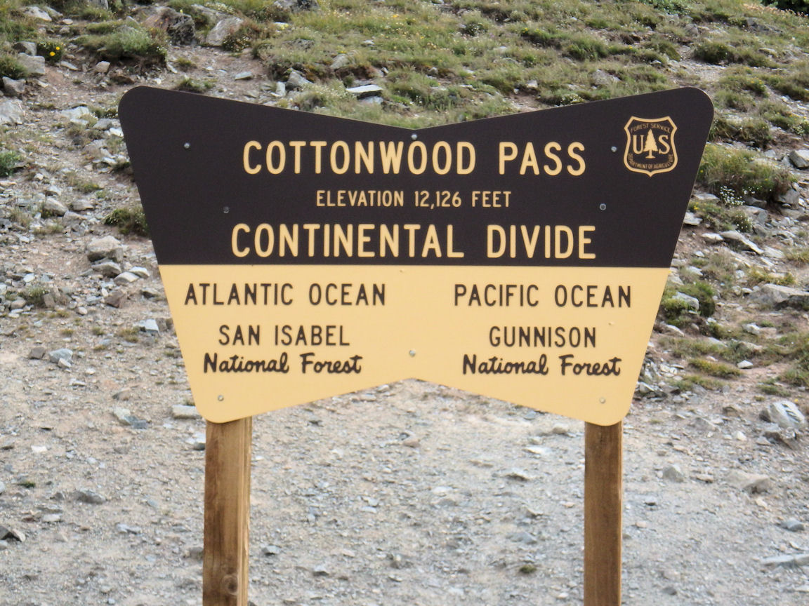 Marking the continental divide.