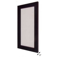 Wood Frame Mirror - Black Finish