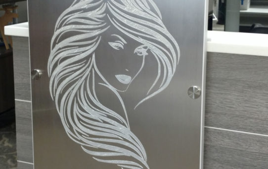 Logo and art work etched furniture
