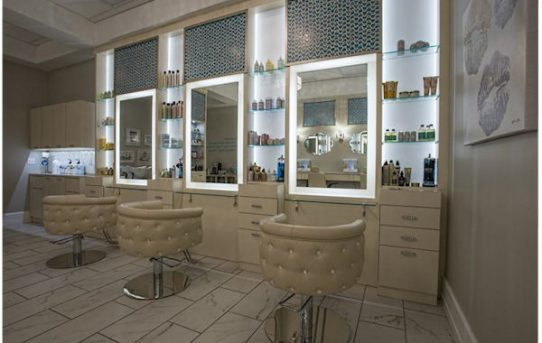 LED Accented Salon Furniture by Salon Interiors