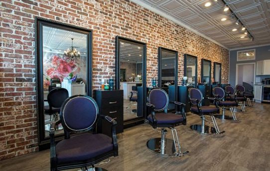Swank Salon With Royal Styling Chairs Photo