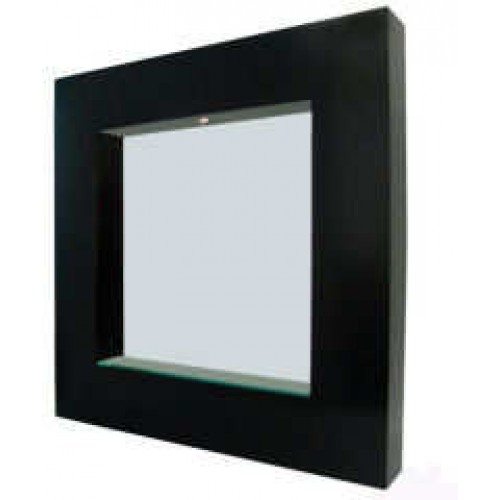 Square wenge mirror for Miroir wenge