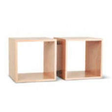 Open Square Double Cabinet