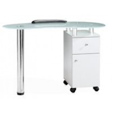 White Lacquer Manicure Table