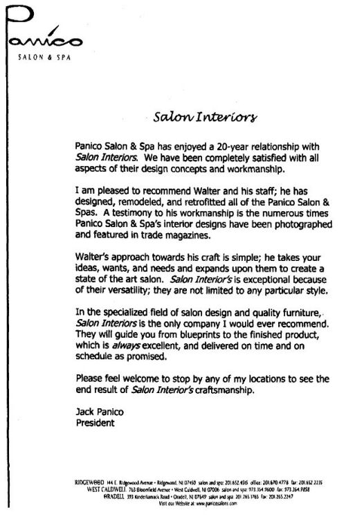 letter to salons spa Leasing commercial space 10 questions for salon / spa tenants to ask landlords by: dale willerton and jeff grandfield – the lease coach 968 words.