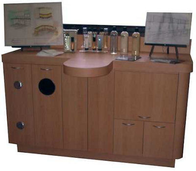 Salon or Office Storage With Product Display