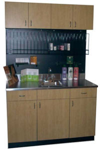 Dispensary With Color Tube Rack